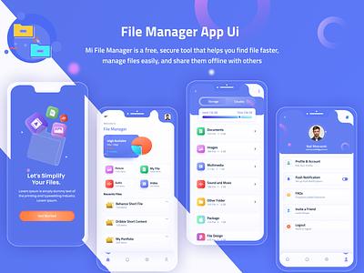 File Manager App Design app ui file storage storage app file explorer application design applications ui app design mobile app file management file manager app file storage folder ui file manager app