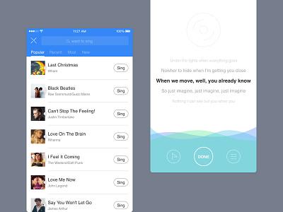 Music App 03 sing app music record