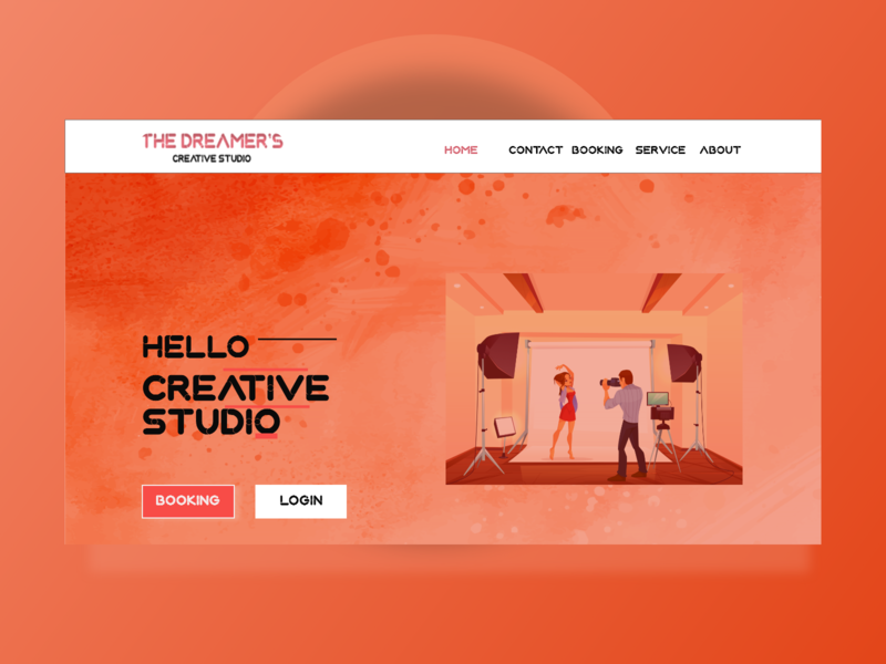 Photo Studio - Landing Page web html css coding photo studio photo pallete figma figma design adobe xd desain web landingpage landing page icon ux design ui