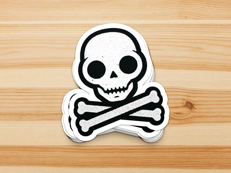 Skullie Stickers illustration skull sticker