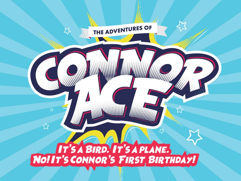 The Adventures of Connor Ace connor ace design first invitation birthday
