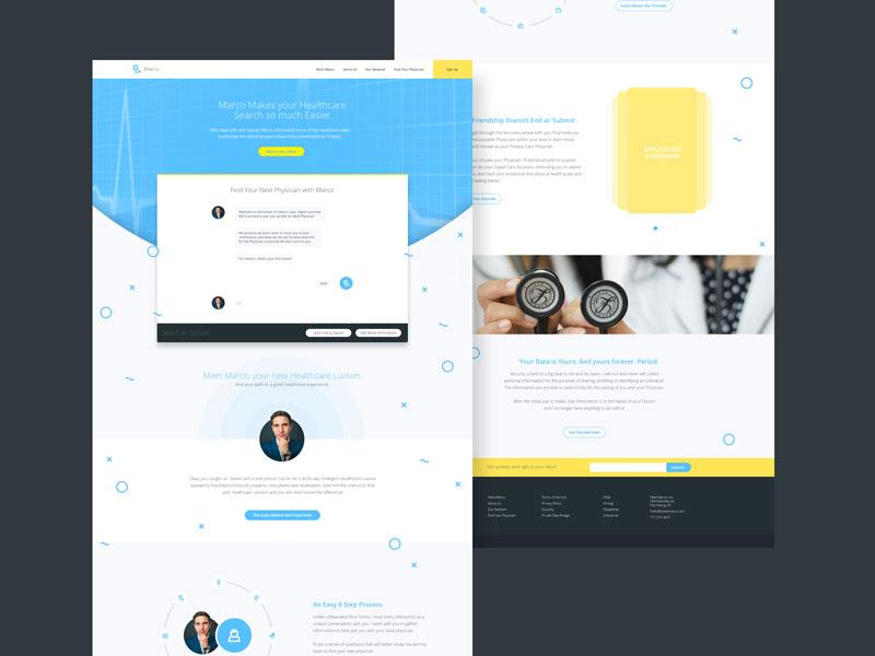 Meet Marco, Your Healthcare Liaison webdesign concept healthcare web ui design landing page website