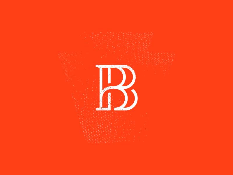 Glyph Concept b pennsylvania keystone orange branding glyph identity brand logo