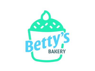 Betty s Bakery: Cupcake colombia logotype logotipo harris robert brand logo dailylogochallenge design branding illustrator