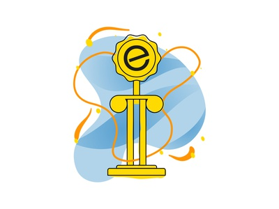 Trophy Illustration web webdesign website learning education app icon vector ui illustration design illustrator