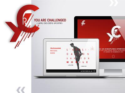 Webdesign You are Challenged identity branding challenge webdesign sport ui mockup design agencenomade logo uidesign branding