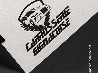 LOGO Carrosserie carrosserie artisan car mockup redesign carte de visite france agencenomade branding logo
