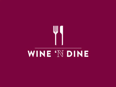 // Logo Wine 'N Dine vector illustrator design graphic design logo branding