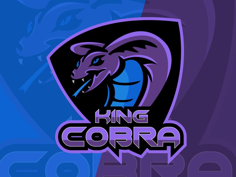 king cobra esport logo tournament king cobra mascot character mascot logo gamer gaming sport graphic design illustrator minimal web icon design vector branding illustration logo logodesign esportlogo