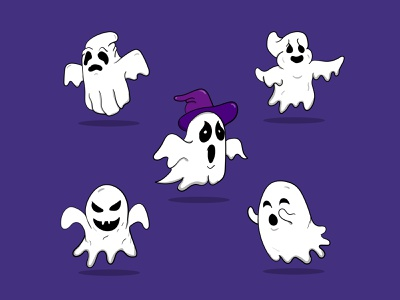 Cute ghost Halloween night cute symbol design icon mascot design halloween gosht halloween design halloween party vector branding design mascot character graphic design illustration