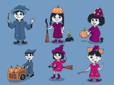 Wicth Kids Character icon halloween cute halloween design vector mascot design mascot character illustration graphic design design