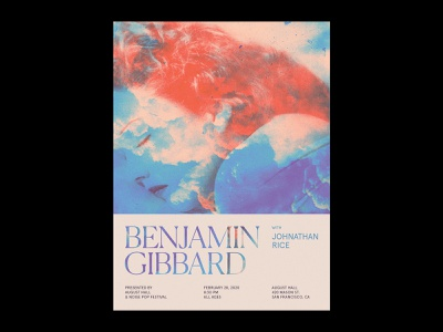 Benjamin Gibbard at August Hall music benjamin gibbard death cab for cutie layout typography poster design flyer show poster