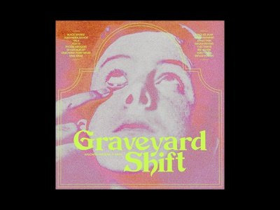Halloween Mixtape No. 7: Graveyard Shift music horror vintage layout spooky typography album art album cover playlist mixtape halloween