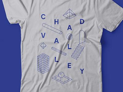 Chad Valley Shirt band music minimal abstract illustration typography design apparel shirt t-shirt