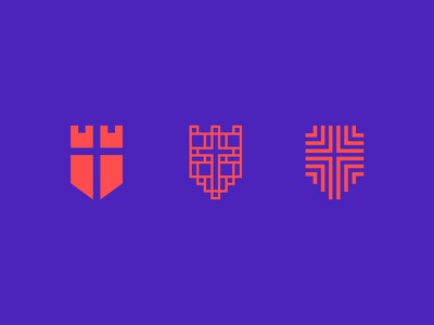 Shields abstract icon logomark mark non-profit christian shield identity design logo