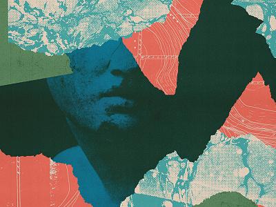 Broadwood Explorations #2 cover design album cover torn paper sculpture color scraps collage design