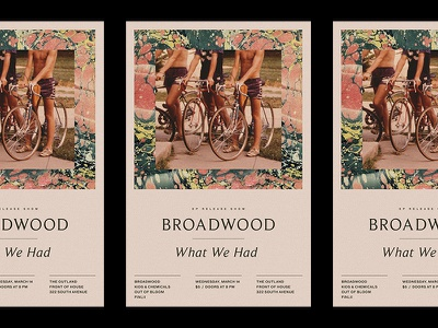 """""""What We Had"""" Release Show Poster music typography marble photography collage flyer design show poster poster"""