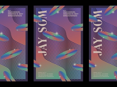 Jay Som dreamy illustration typography design flyer poster show poster music band