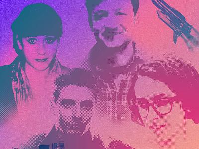 Dragon Inn 3 — Press Collage retro 80s color photo design promo press collage