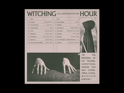 Witching Hour Mixtape layout halloween typography grid album artwork music playlist mixtape