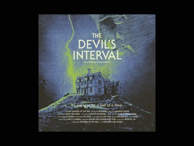 The Devil's Interval playlist mixtape film horror devil halloween album cover album art collage music typography design