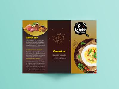 Menu  tri fold  Brochure