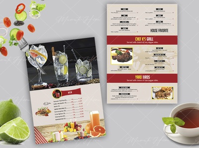 design all sized restaurant menu flyer