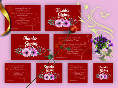 Thank You Card Template Set