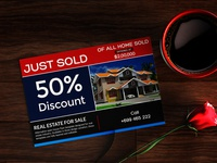 Business Marketing Real Estate Postcard