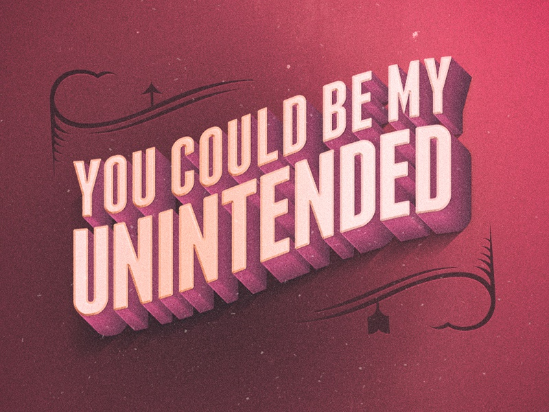 Unintended by Muse ♫♪ melancholy midnight song unintended muse typography lettering vintage type hipster