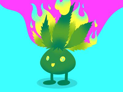 Herbie, the Oddish trending2020 gradients colorful psychadelic oddish marijuana stonerart fanart pokemon procreatenanimation procreate graphic design illustration