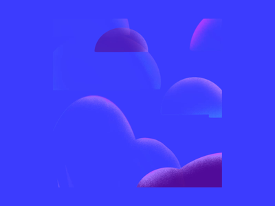 Water Sign Dreams gif loop motion graphic mountains clouds zen dreamy procreate 5x animation minimal animation shape animation gradients pattern design shape design scorpio cancer pisces astrology
