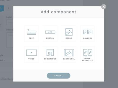 Add Component Modal