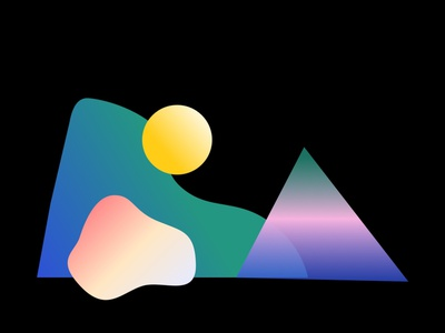 Channeling the 90s layers gradient shapes web vector logo design