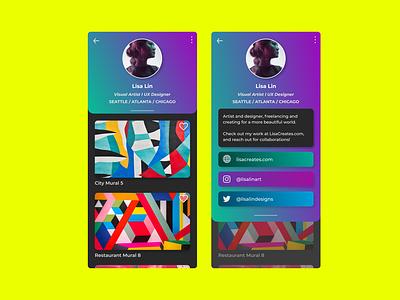 Creator User Profile popart socialmedia art creative artist gradient branding ui atlanta colors design