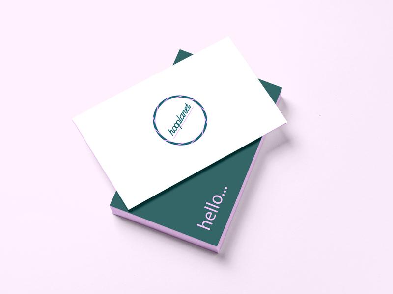 Logo Design - Concept Idea mockup logodesigns pastelpink forestgreen type circle logo round logo hobby adobeilustrator newideas logoconcept concept businesscard hoop pinky pink green logodesign logotype