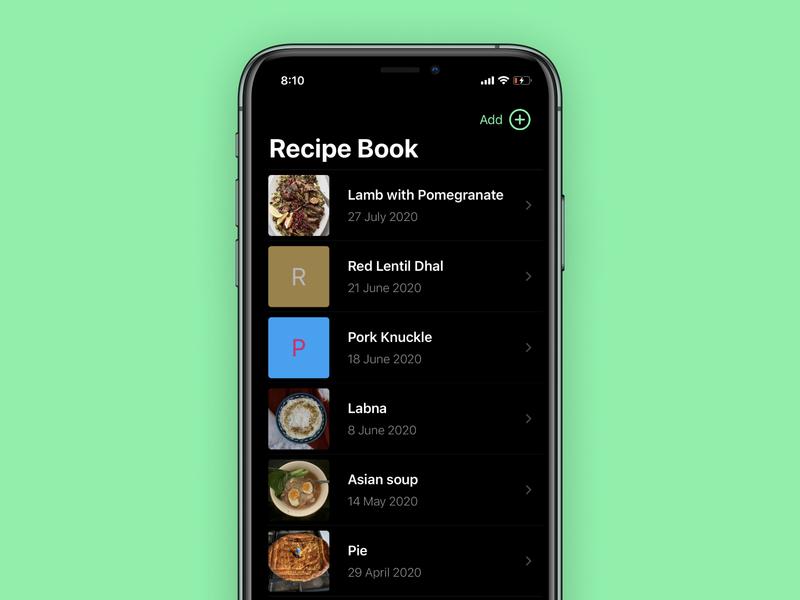 Recipe App swiftui ios recipe recipe app