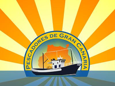 Pescadores de Gran Canaria logo illustration logo design branding