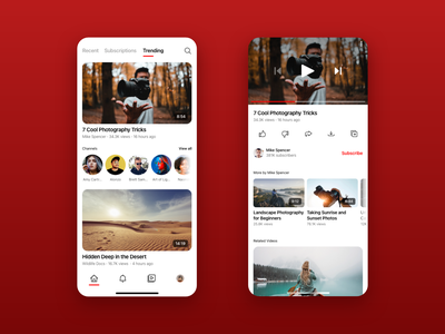 Youtube Concept ios youtube adobe xd mobile design concept app ui