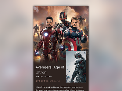 Movie App film movie app flat mobile ui