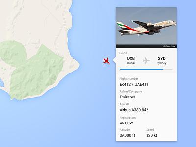 Aviation card profile aviation flat ui
