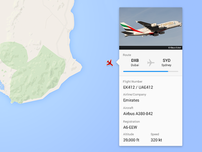 Aviation card profile