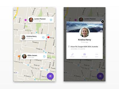 Daily UI 020 - Location Tracker app design ui map daily ui 020 location tracker