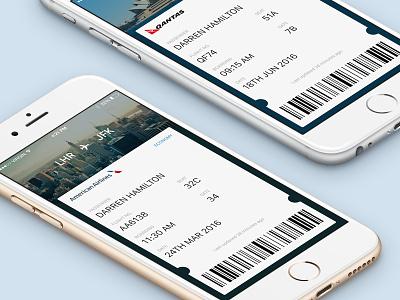 Daily UI 024 - Boarding Pass ticket flights app ui