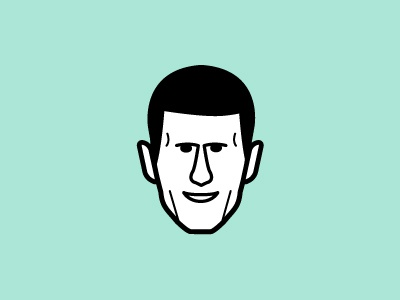 Novak Djokovic djokovic novak tennis face vector