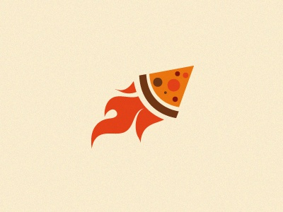 Rocket pizza logo vector pizza rocket hot fire