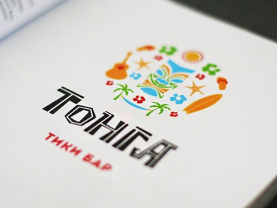 Tonga logo tonga tiki logo vector letter type bar summer