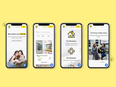 Rentalbee PH on mobile mobile design aesthetic bee simple mobile manila philippines rentalbee