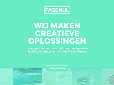 Simplesite simple web layout green flat clean ui webdesign minimal gallery