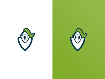 Knight vision helmet markt logo shield green knight